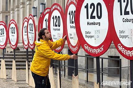 Tempolimit 120 fuer Klimaschutz
