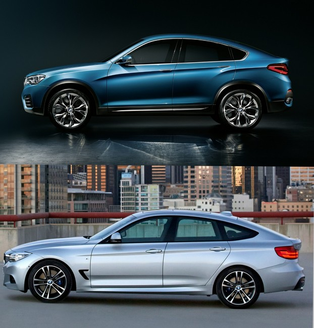 BMW Serie 3 GT vs X4 Concept